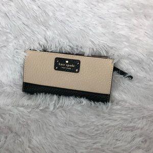Kate Spade wallet cream/black NWT